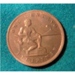 1933M Philippines United States Administration One Centavo KM163. Gem Red BU. KM value $25.00.