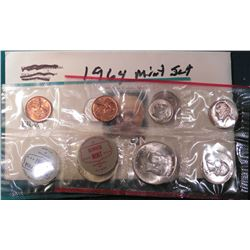 1964 P & D U.S. Mint Set in original cellophane. No envelope.