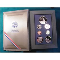 1986 S U.S. Prestige Proof Set in original grey felt holder. Includes Statue of Liberty Silver Comme