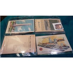"(4) Oil or Gas related Post Cards.""Alemite Temprite Summer Gear Lubricant""; ""Gulf Exhibit at the Wor"