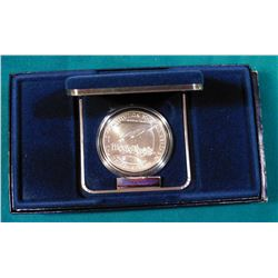 1987 D U.S. Constitution BU Silver Dollar. In original U.S. Mint box as issued.
