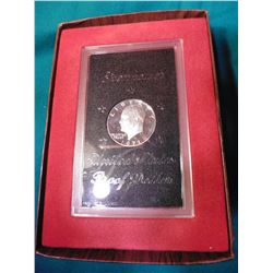 1971 S Proof Eisenhower Silver Dollar in an original brown box of issue.