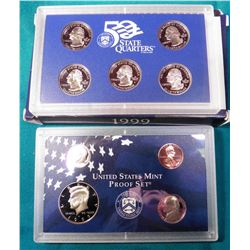 1999 S U.S. Proof Set. In original U.S. Mint box as issued.