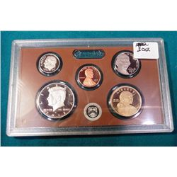 2012 S Proof Cent, Nickel, Dime, Half-Dollar, & Dollar in original plastic cases.