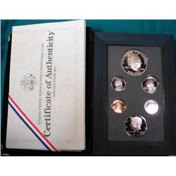 1890-1990 S U.S. Silver Prestige Proof Set in original felt holder, no box.