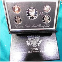 1998 U.S. Mint Premier Silver Proof Set. Original as issued.