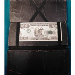 """Leather Magician's Billfold"" Complete with a Million Dollar Bank note. (Quite interesting)."