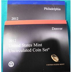 2012 P & D U.S. Mint Sets in original holder, no box.