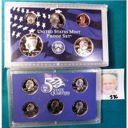 2007 S U.S. Proof 10 of 14 Proof Coins Original Set. (no dollars). In original holder.