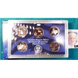 "2004 S U.S. Mint State Quarters Proof Set, which includes the ""Iowa"". In original box of issue."
