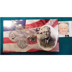1996 W Roosevelt Dime in original cellophane with literature.