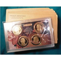 (16) Empty envelopes for 1962 Proof Sets. (no coins); included for excitement is a 2007 S U.S. Presi