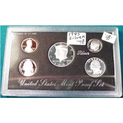 1995 S U.S. Silver five-piece Proof Set. Original as issued.