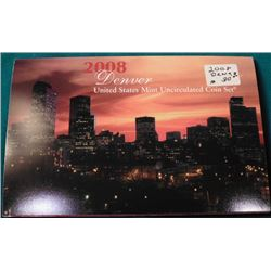 2008 Denver U.S. Mint Sets in original holder, no box.