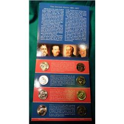 2012 P & D U.S. Mint Presidential Dollar Uncirculated Coin Set in original holder, no box.