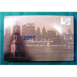 2007 Philadelphia Mint Uncirculated Coin Set in original U.S. Mint holder. No box.