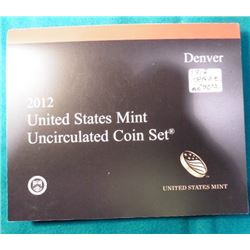 2012 Denver U.S. Mint Sets in original holder, no box.
