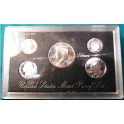 1998 S U.S. Silver five-piece Proof Set. Original as issued.