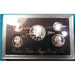 1992 S U.S. Silver five-piece Proof Set. Original as issued.