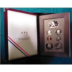 1982 S U.S. Mint Prestige Silver Proof Set in original box of issue with Silver Dollar.