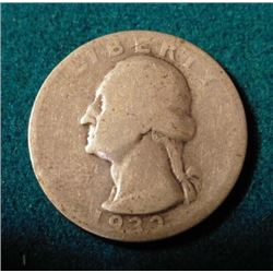 1932 S Washington Quarter. Key date. AG-G. Red Book values the lowest grade listed at $175.00.