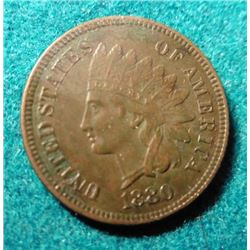 1880 Indian Head Cent. EF.