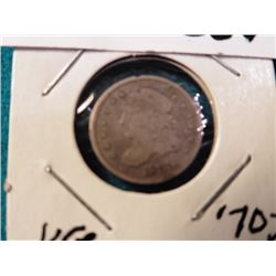 1835 Capped Bust Half Dime. VG.