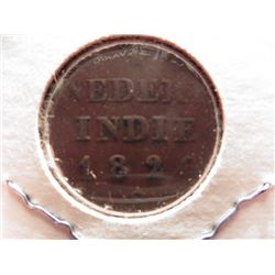 1826 Netherlands-Indies Copper Duit.