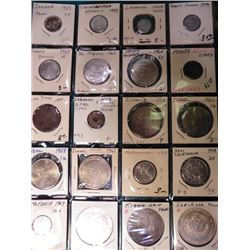 (17) Various Foreign Coins and (3) Facsimile Chinese Dollar Coins. Includes several BU. Jamaica, Cze