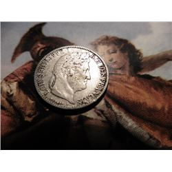1847 France 50 Centimes. Silver. VF.