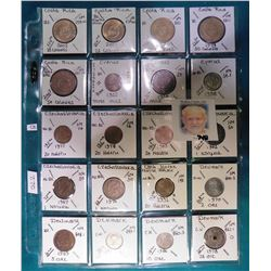 (20) Various foreign coins from Costa Rica, Cyprus, Czechoslovakia, Czech Republic, & Denmark in a p