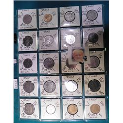(20) Various foreign coins from Italy in a plastic page. All identified with KM number, Mintage, and