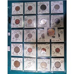 (20) Various foreign coins from Barbados, Belgium, Belize, Bermuda, Brazil, Caribbean States, Cayman