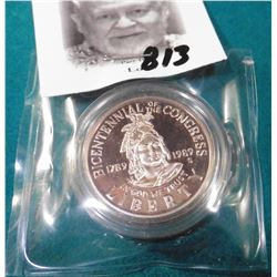 1989 S U.S. Congress Bicentennial Half Dollar. Proof.