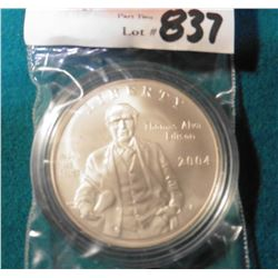 1879-2004 P Thomas A. Edison U.S. Mint Commemorative Silver Dollar. Gem BU. Encased.