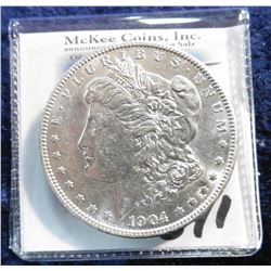 1904 P U.S. Morgan Silver Dollar. Brilliant Uncirculated.
