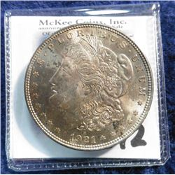 1921 P U.S. Morgan Silver Dollar. Superb Brilliant near full toning.