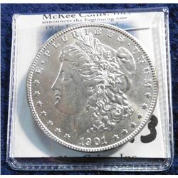 1901 O U.S. Morgan Silver Dollar. Superb Brilliant Uncirculated, bag mark free.