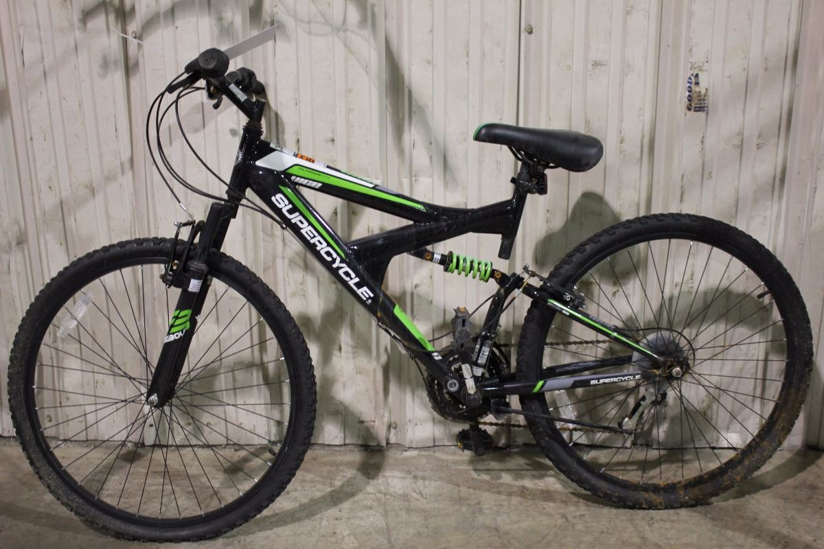 black supercycle vice 18 speed full suspension mountain bike. Black Bedroom Furniture Sets. Home Design Ideas