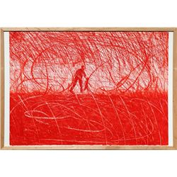 Alex Kremer, Red, Aquatint Etching