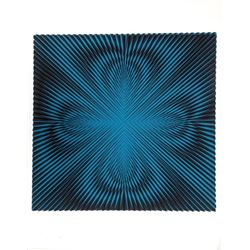 Roy Ahlgren, Blue Abstract, Serigraph