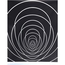 Clarence Holbrook Carter, Concentric Space (Silver), Silkscreen