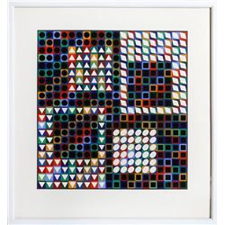 Victor Vasarely, Our MC, Serigraph