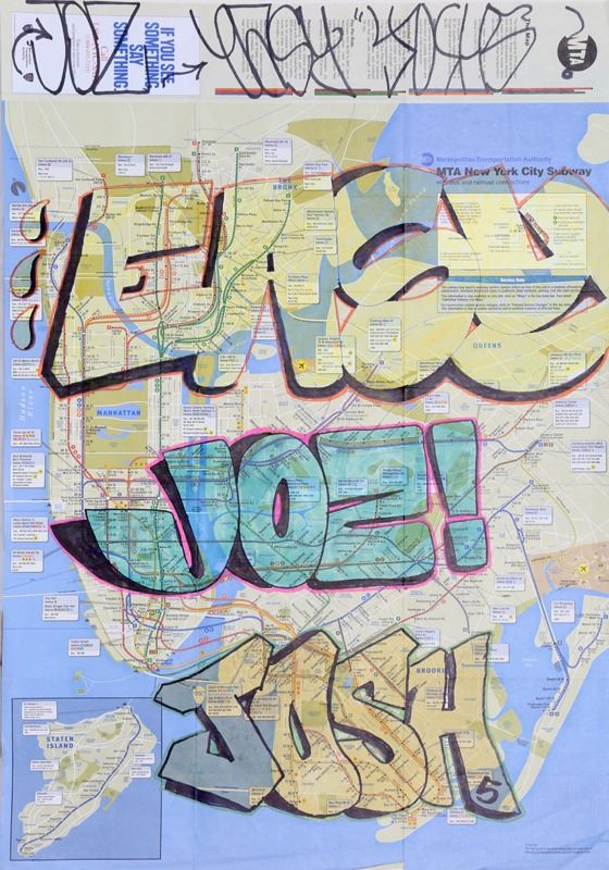 Easy Joz And Josh Tagged NYC Subway Map Marker Drawing - Easy map of nyc