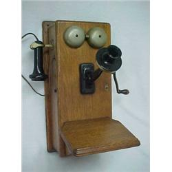 oak cased northern electric co wall mounted telephone. Black Bedroom Furniture Sets. Home Design Ideas