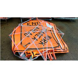 VINYL ROLL UP CAUTION SIGNS
