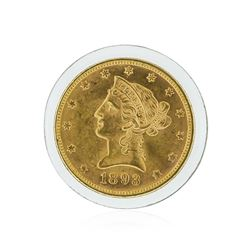 1893 $10 BU Liberty Head Eagle Gold Coin