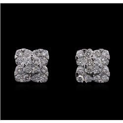 1.68ctw Diamond Earrings - 14KT White Gold