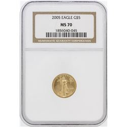 2005 NGC MS70 $5 American Eagle Gold Coin