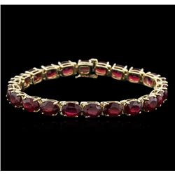 14KT Yellow Gold 33.96ctw Ruby Bracelet